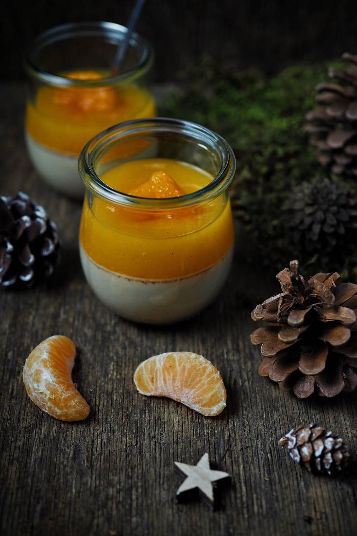Spekulatius-Panna-Cotta mit Mandarinencreme #rührteiggrundrezept
