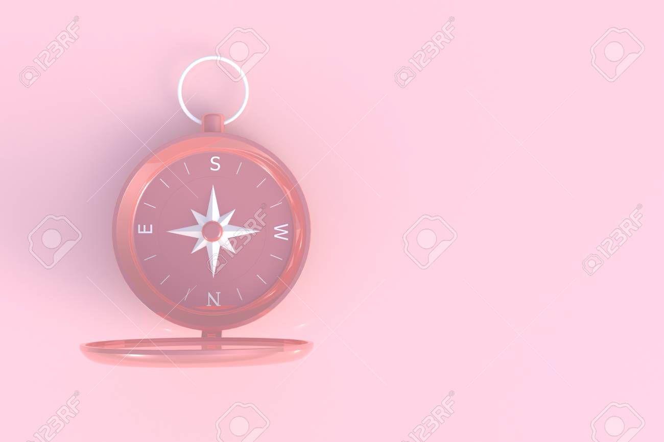 Compass Abstract Minimal Pink Background 3d Rendering Stock Photo Ad Minimal Pink Compass Abstrac Pink Background Illustration Design Vector Design