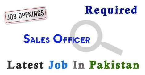 Sales Officer Job In karachi Pakistan,Latest Sales Officer in karachi Pakistan