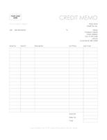 Credit Memo Simple Lines Design  Make To Invoice