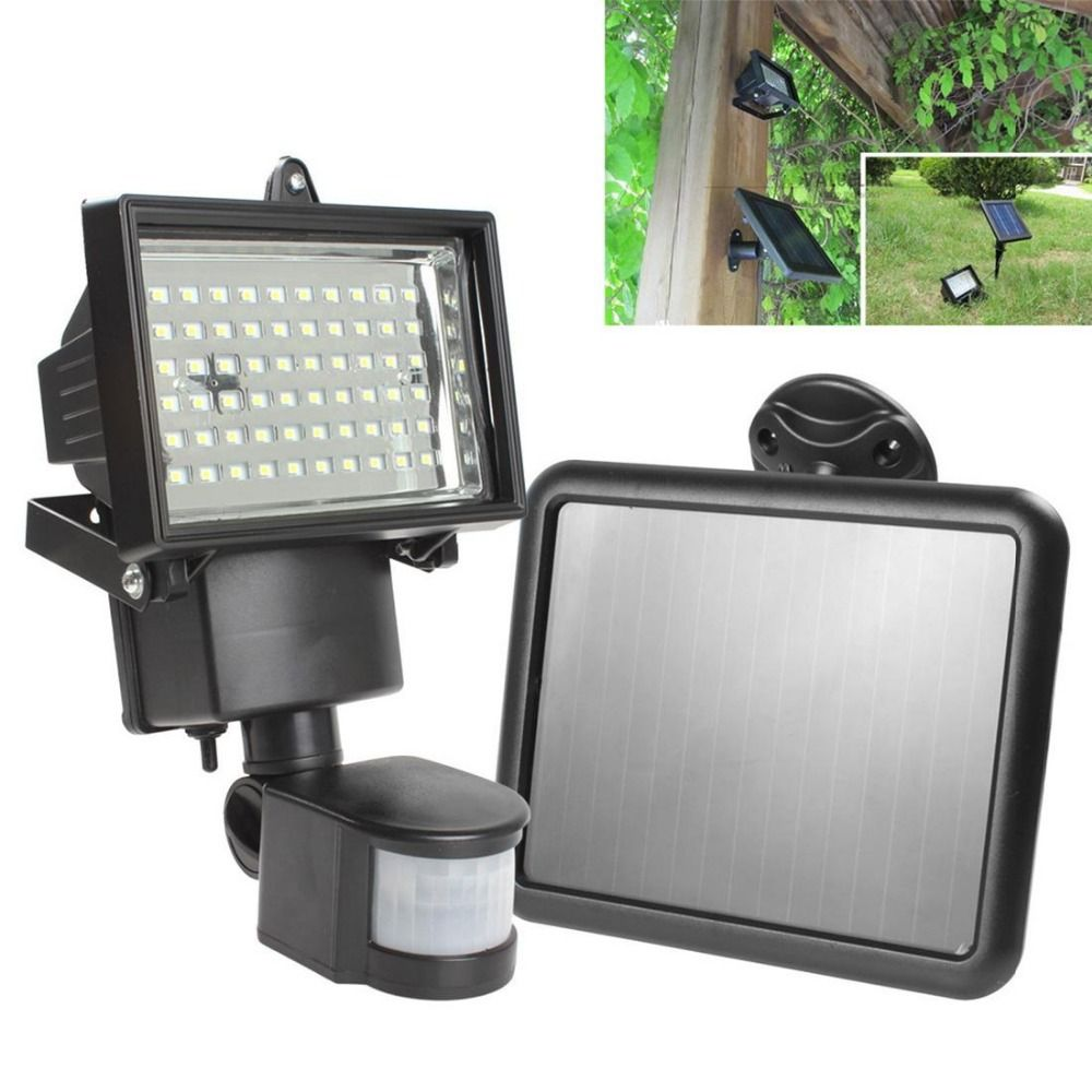 Outdoor Led Motion Lights Brilliant Hot Sale Solar Panel Led Flood Security Solar Garden Light Pir 2018