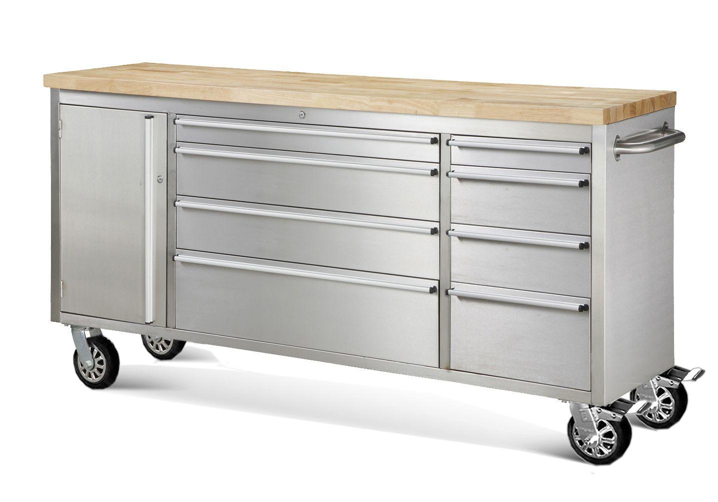 Genial 6 Foot Stainless Steel Rolling 8 Drawer Tool Box