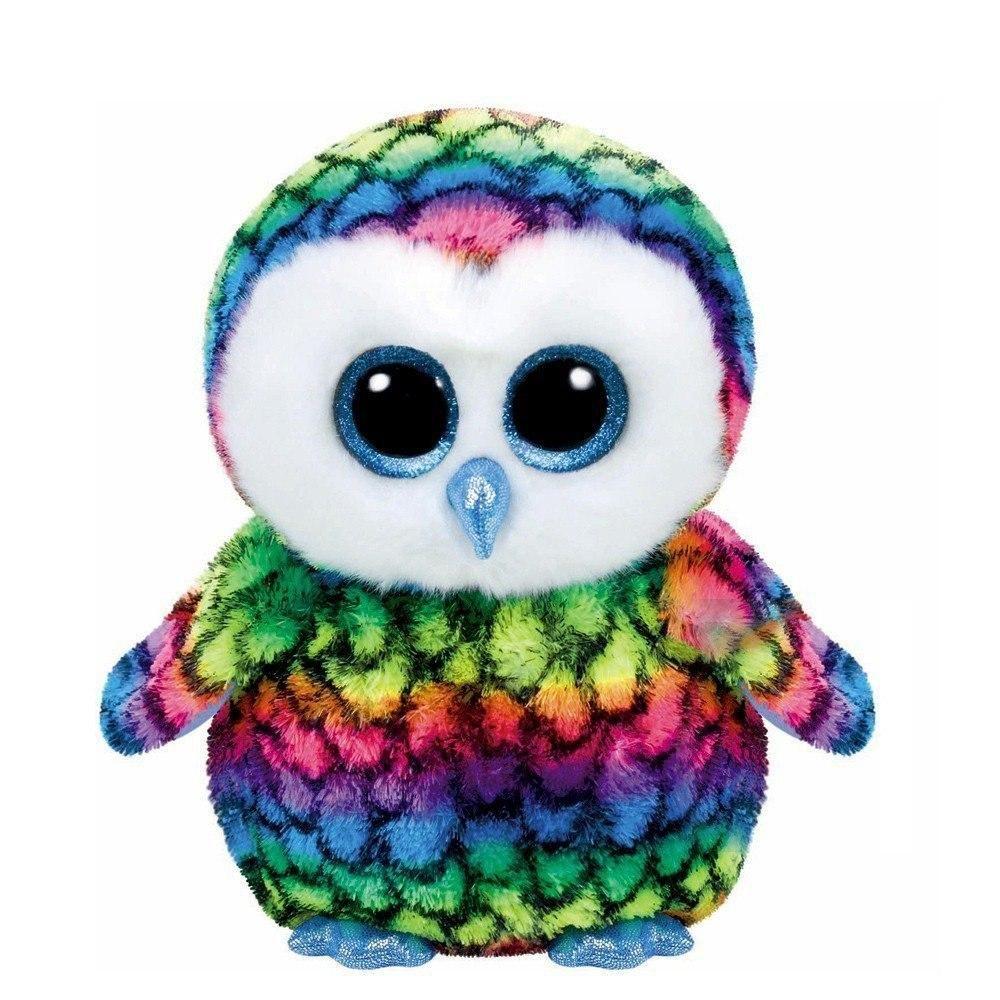 Lovely Aria Owl Plush Toys Ty Beanie Boos Gorro De Bebe Urso