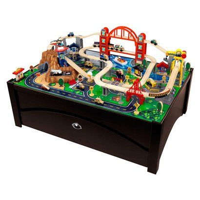 Need this for every boy's room...KidKraft Metropolis Train Table and Set from Target for $189.09