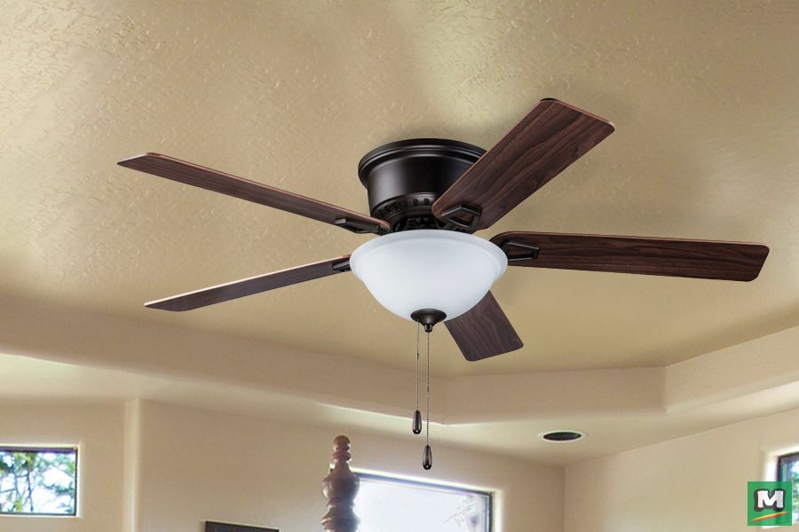 Turn Of The Century Alston 52 Bronze Ceiling Fan Features Five