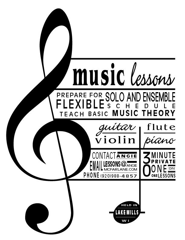 Image Result For Music Lesson Flyer | Music Leaflets | Pinterest