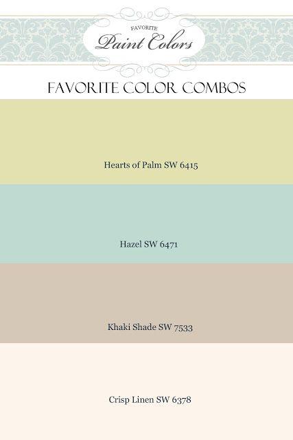 Favorite Paint Colors: color combinations Great Paint site. ~~JML ...