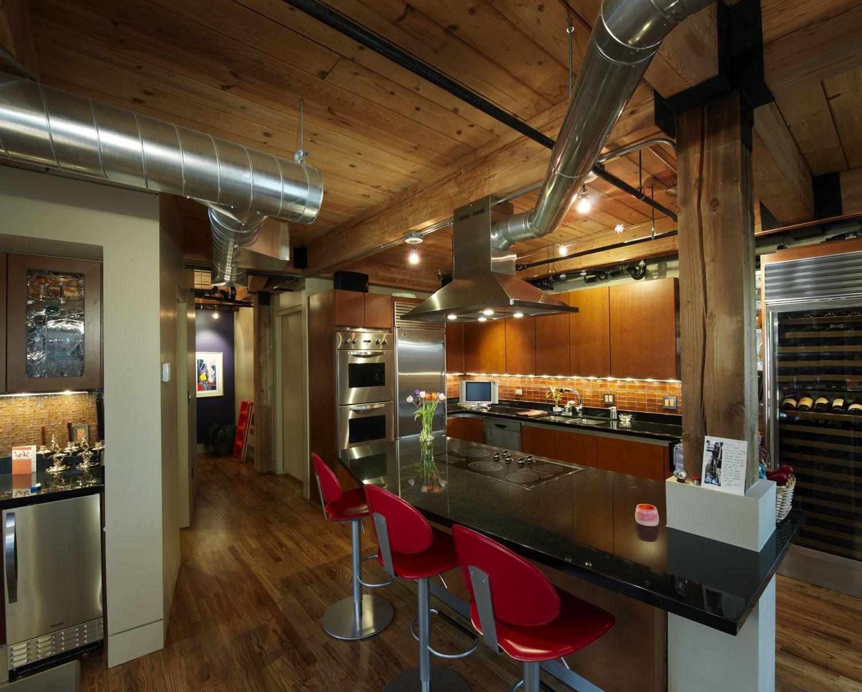 Franklin Loft Remodel   Lofts, Loft kitchen and Urban loft