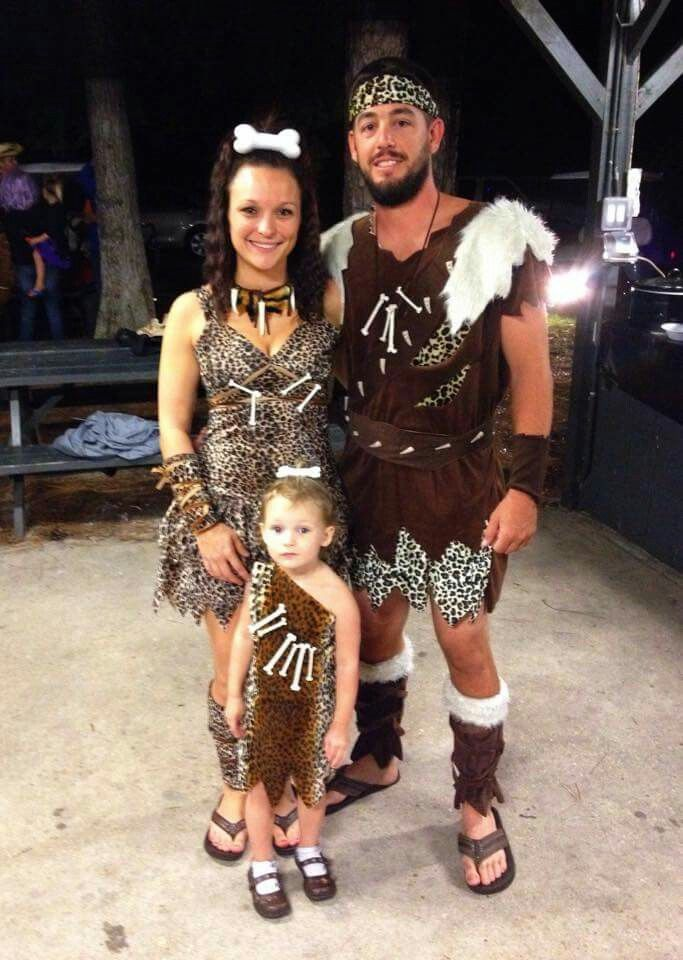 Caveman Outfit Ideas : Family halloween costume caveman