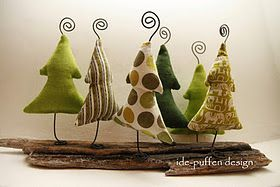 These are just too cute! Brighten up for a more Whoville (the Grinch) look with different fabric :-)