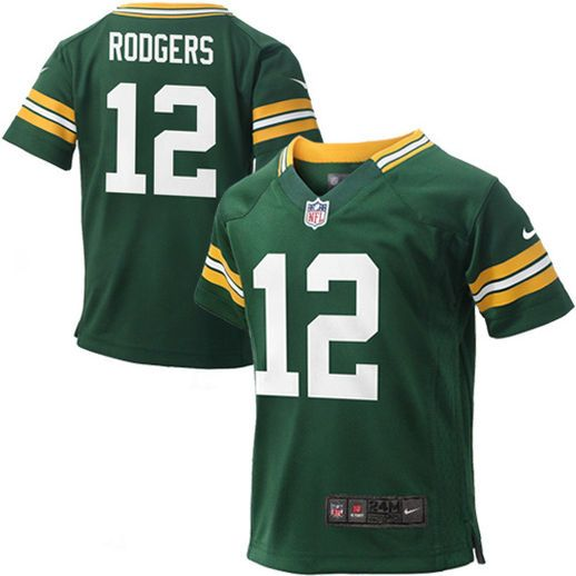 780a16da685 Nike Aaron Rodgers Green Bay Packers Infant Green Team Color Game Jersey