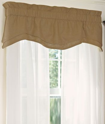 Soft Linen Lined Layered Scalloped Valance Country Curtains Curtains Valance