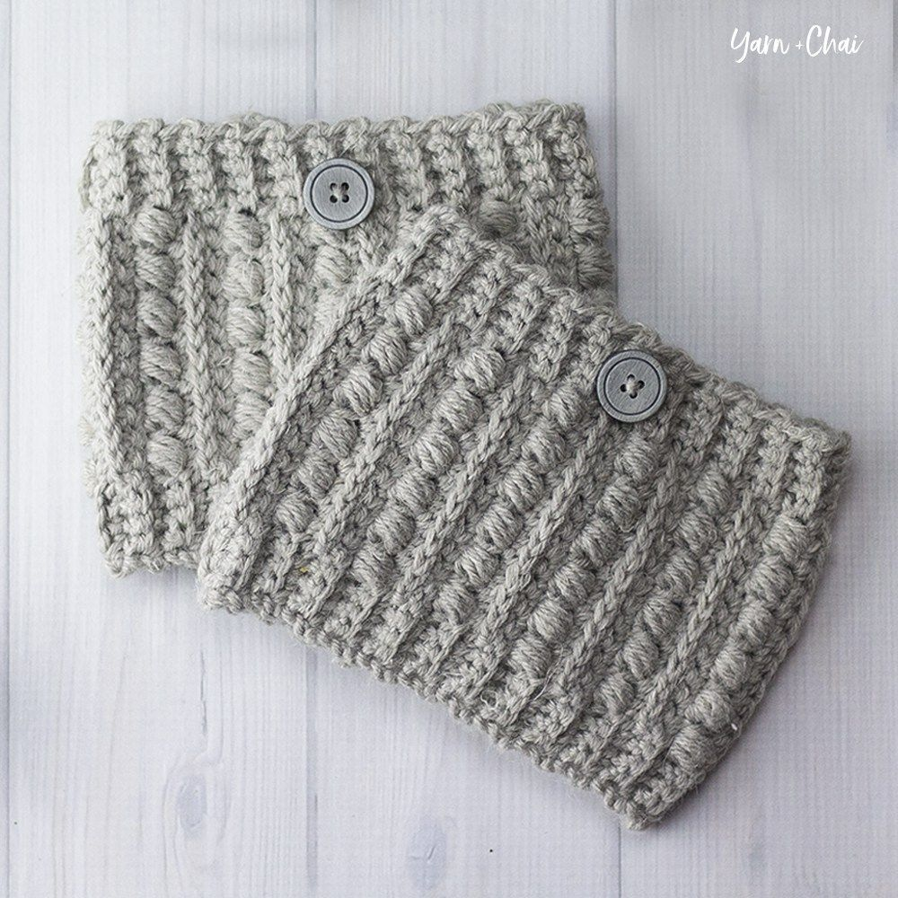 The Malia Boot Cuffs | Little Monkeys Crochet | Accesorios | Pinterest