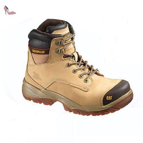 Cat - Spiro S3, Zapatos de Seguridad Hombre, Marrón (Dark Brown), 45 EU