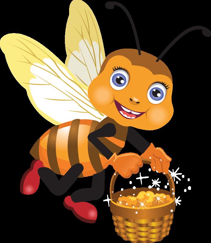 Картинка пчелка с медом