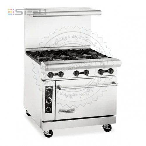 اجاق گاز 6 شعله فردار American Range Ar 6 Commercial Kitchen Equipment Oven Sale Retro Oven