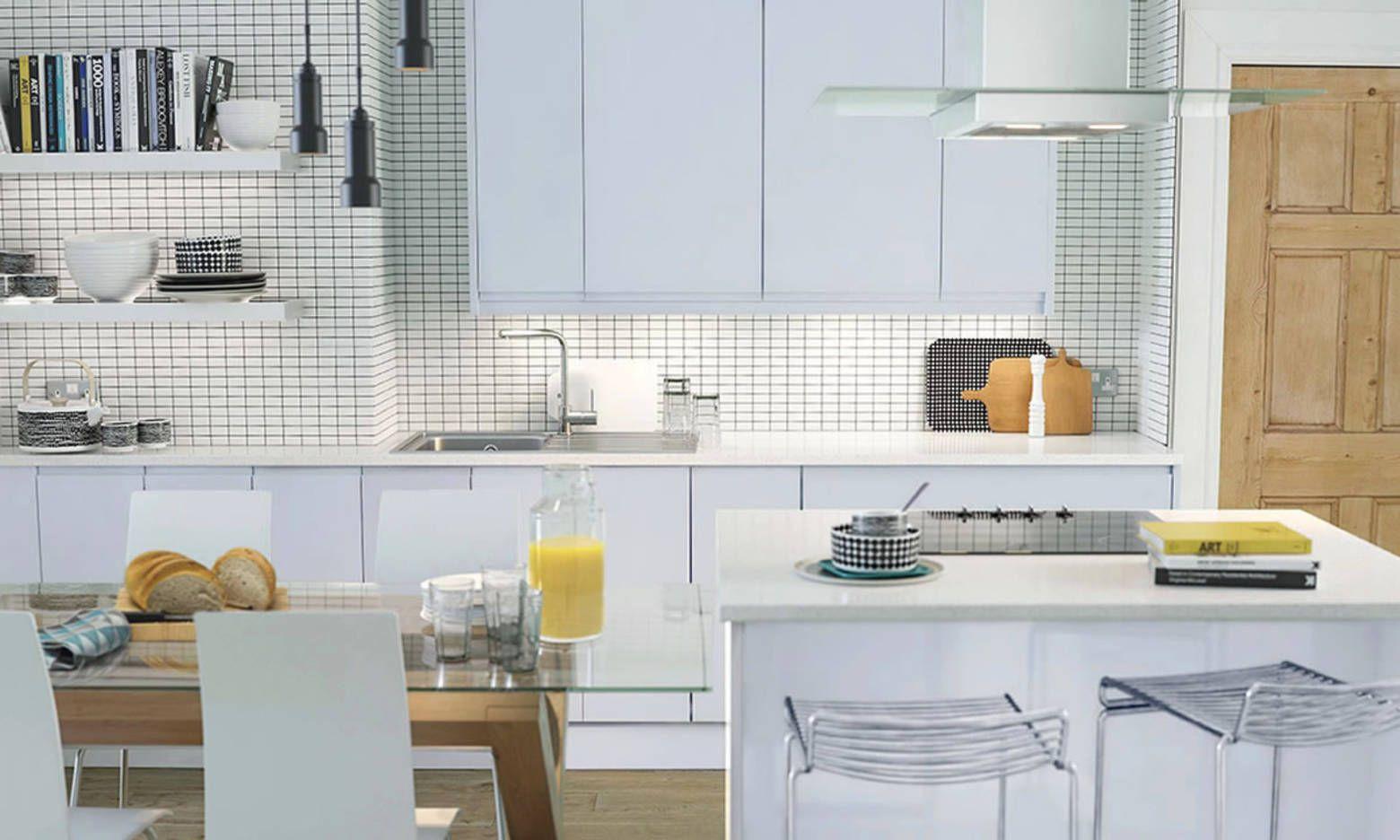 Handleless Cashmere Gloss - (Wren Kitchens) | Kitchens | Pinterest ...
