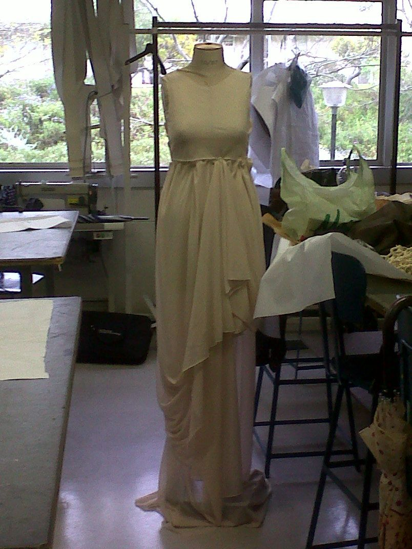 draping done. sewing to be done. #avantgardedress