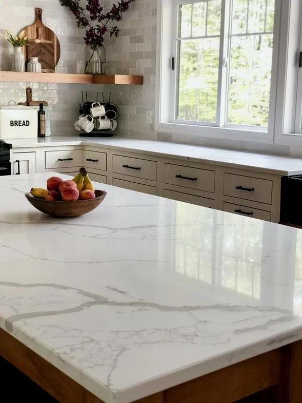 22 Remarkable Kitchen Countertops Options In 2020 Replacing Kitchen Countertops Kitchen Layout Quartz Kitchen Countertops