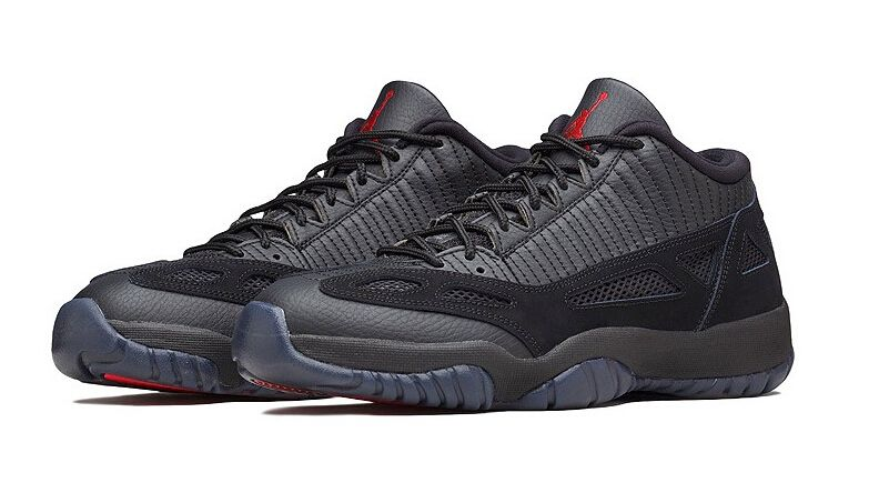 Air Jordan 11 IE Low Referee Color Black True Red Style Code 306008-003 Release  Date September 26 97e1409e2