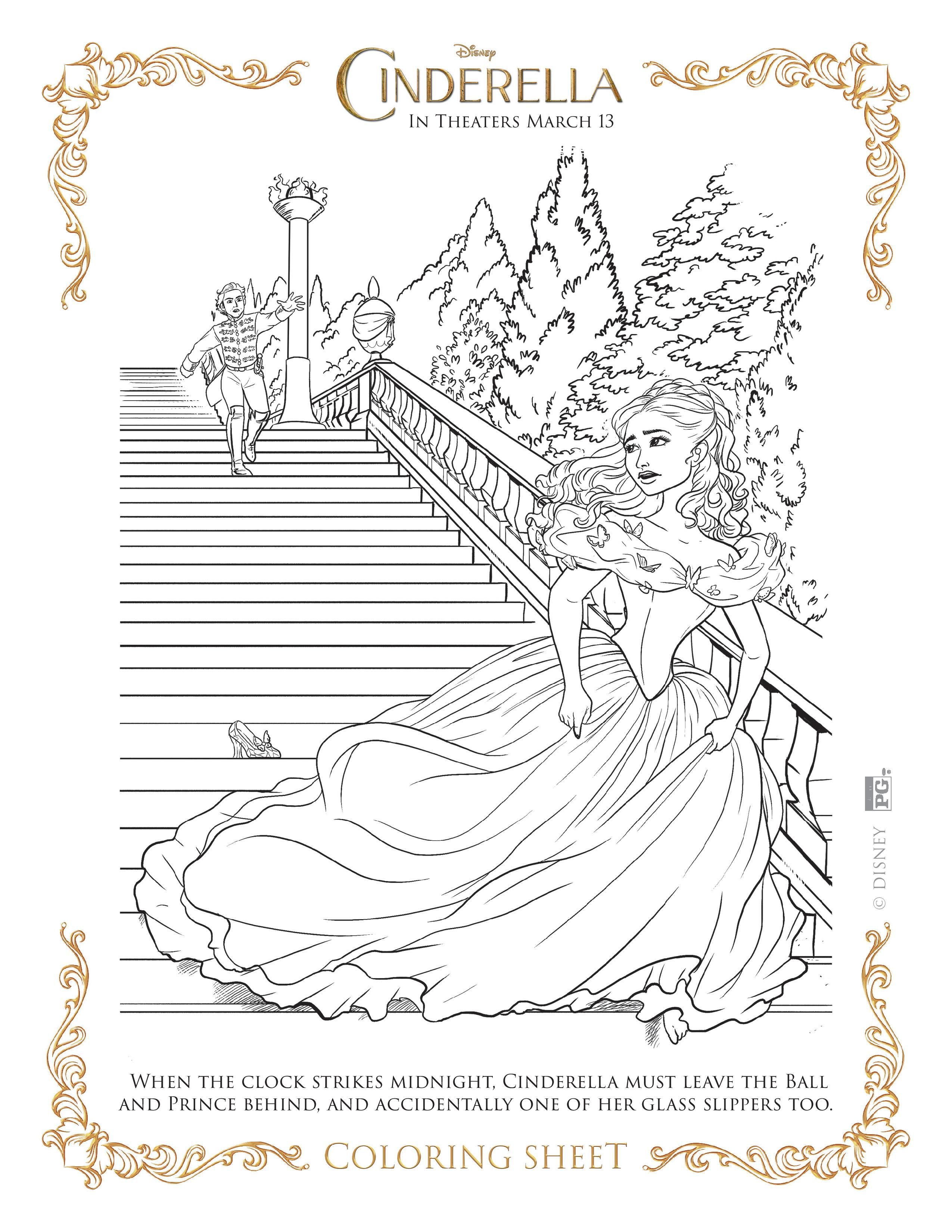 NEW Disney's Cinderella Coloring Pages and Activity Sheets