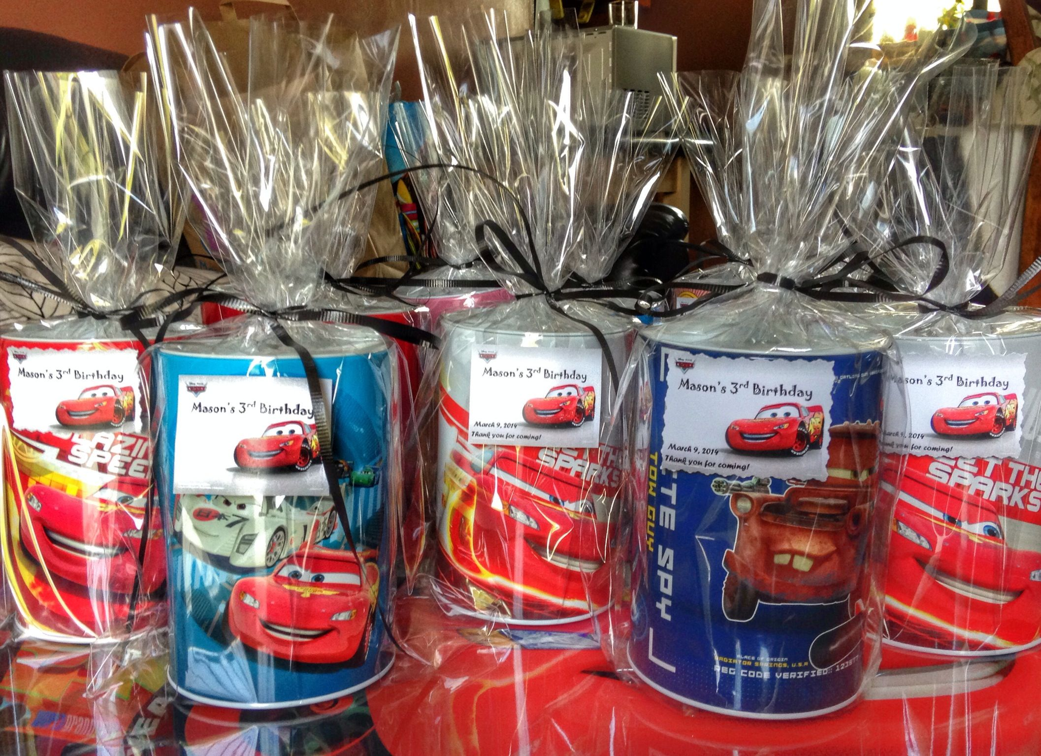 Disney Pixars Cars Party Favors- Tin Bank
