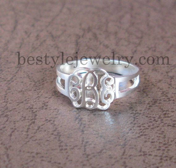 Initial Monogram Ring -  Custom Ring - Bridesmaid Ring - Personalized Gift - Luxury Fashion