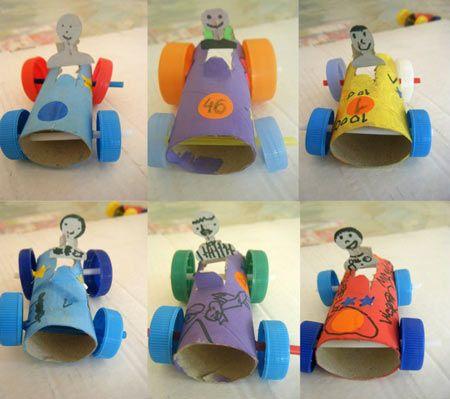 Top DIY - Carrinhos com papel higiénico e tampas de garrafa  LX78