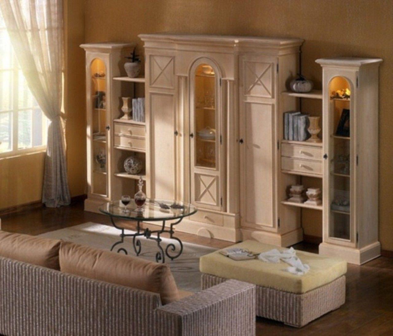 ✅ Casamia Wohnzimmerschrank Wohnwand Allegro 9 cm breit, Pinie