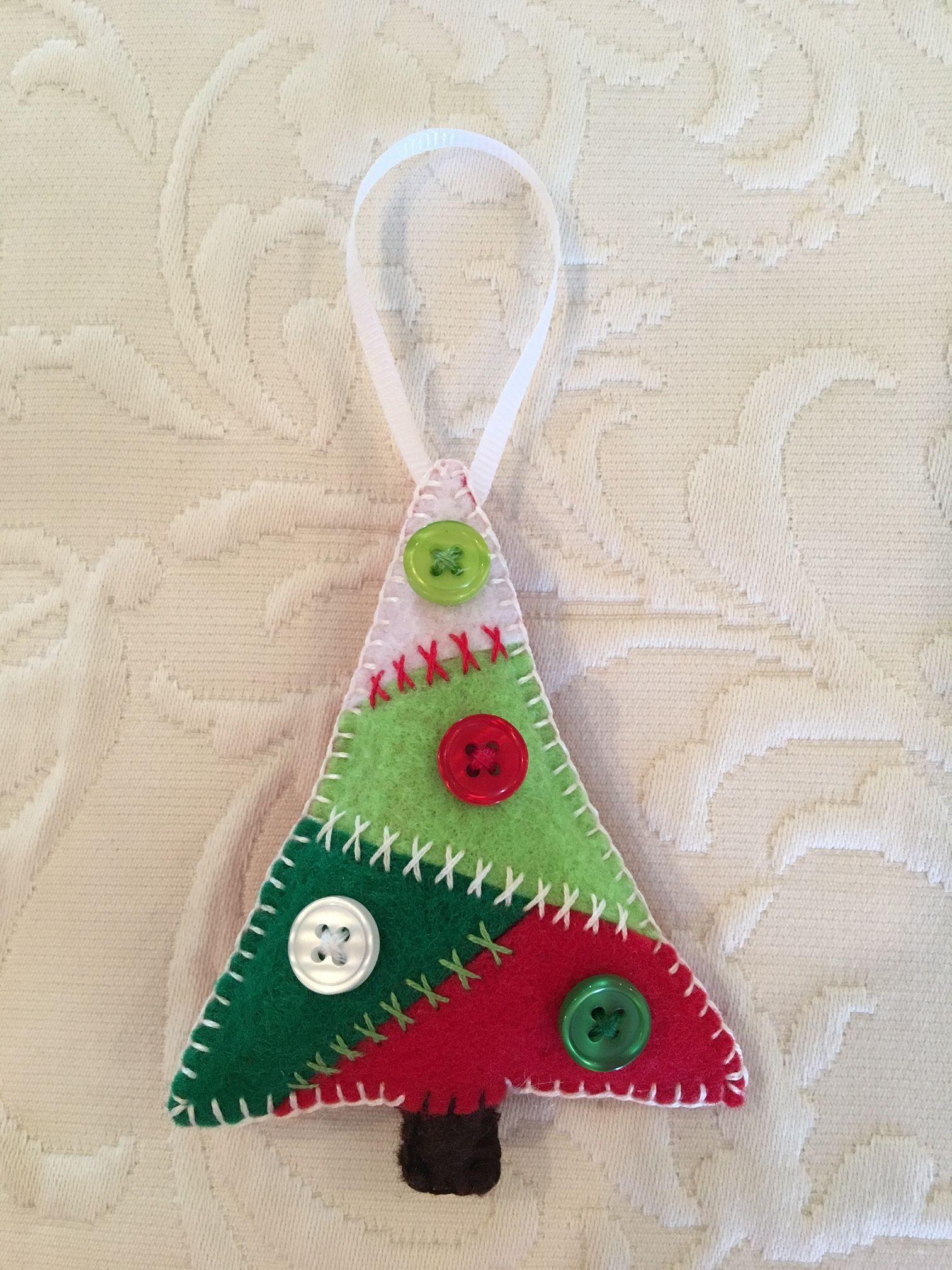 Felt Crafts Felt Ornament Christmas Tree Patchwork Tree
