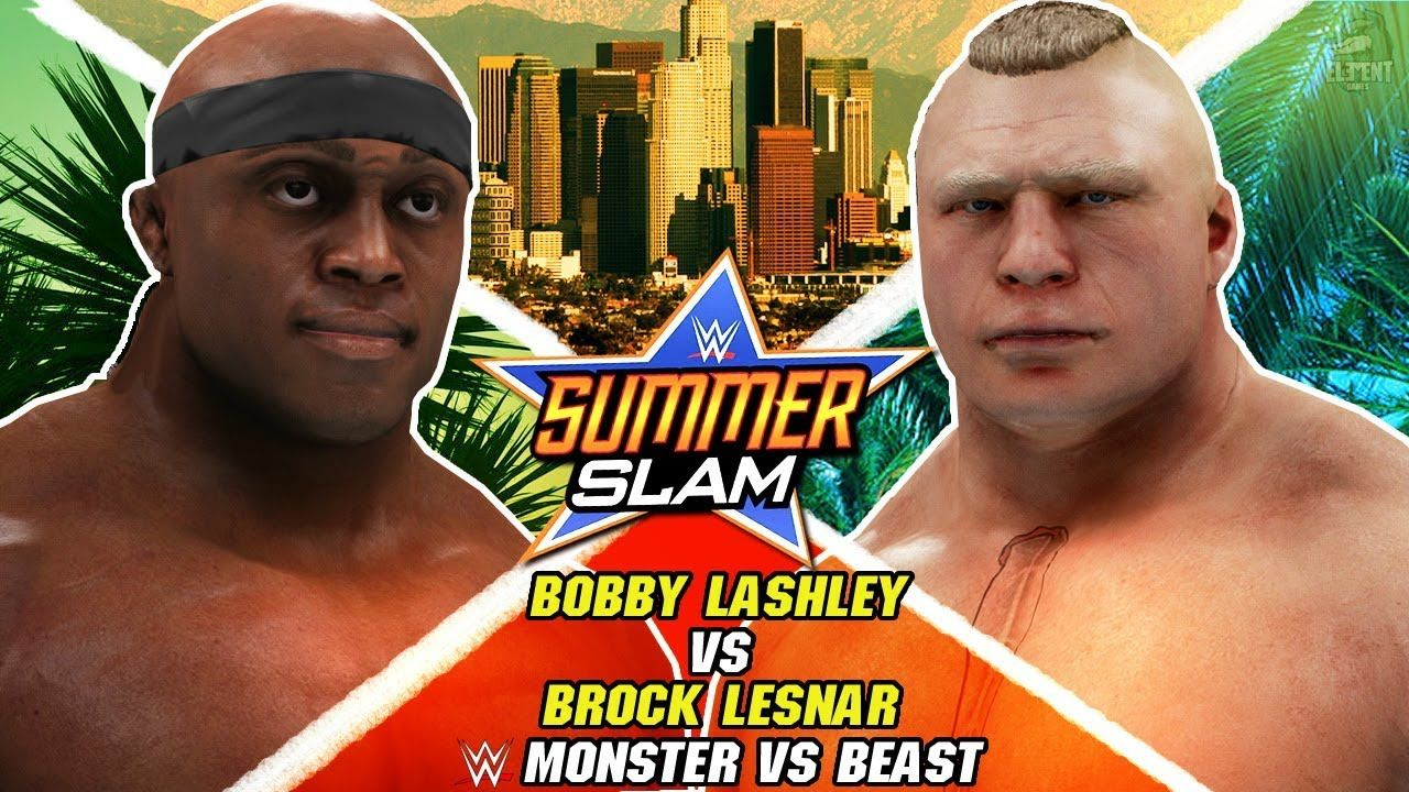 Wwe 2k19 Summerslam 2019 Bobby Lashley Vs Brock Lesnar The Dream