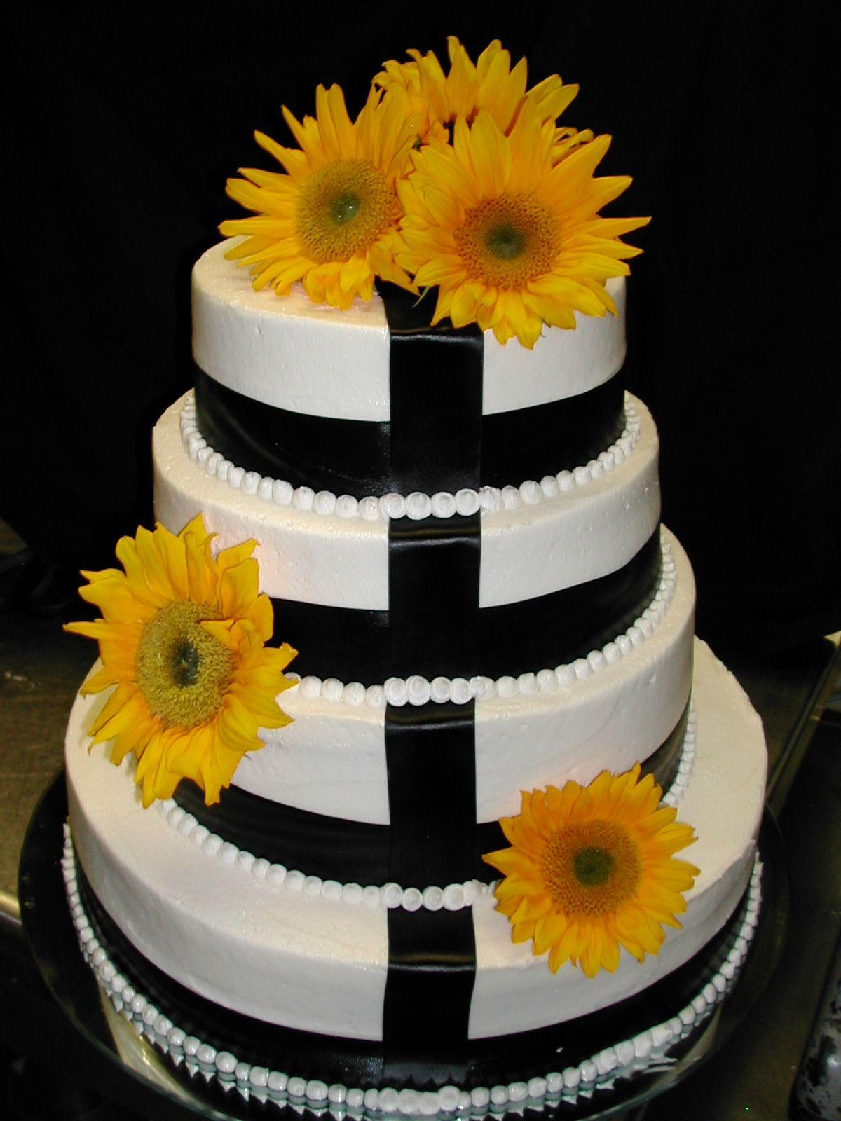 Sunflower Wedding Cake Country Bliss