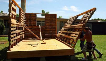 Casas Hechas Con Palets Casas Hechas Con Palets Casa De Palets Como Construir Una Casa