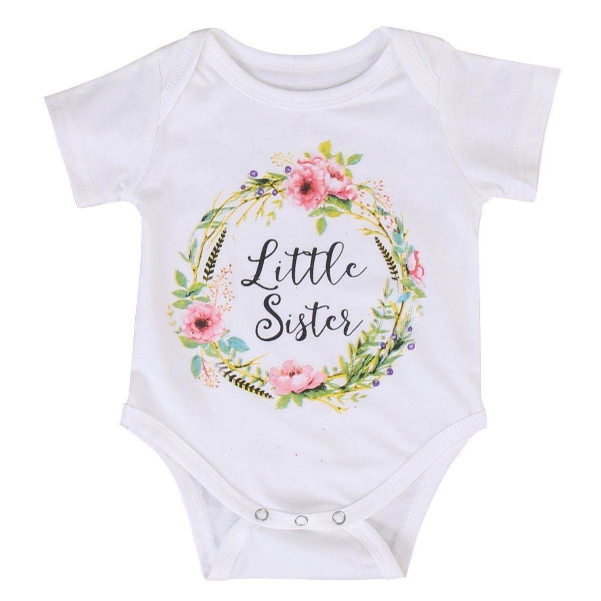 Little//Big Sister Baby Girl Kids Floral Romper Dress Matching Summer Outfits