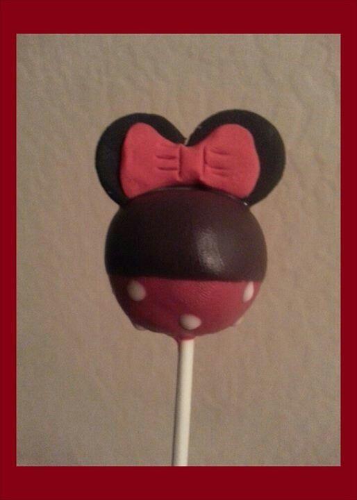 Minni mouse cakepop