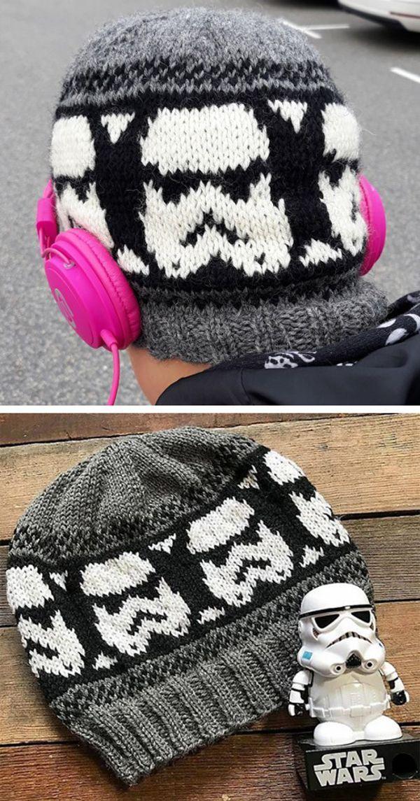 Photo of Free Knitting Pattern #gestrickte Schals, wie man trägt Storm Trooper Beanie – …