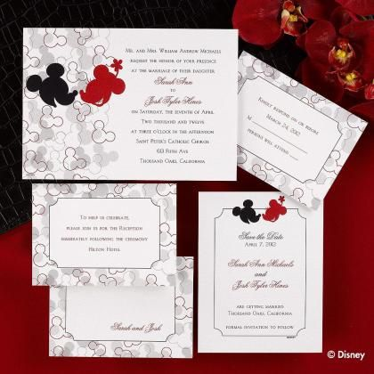Disney wedding invitations mickey and minnie wedding invitations