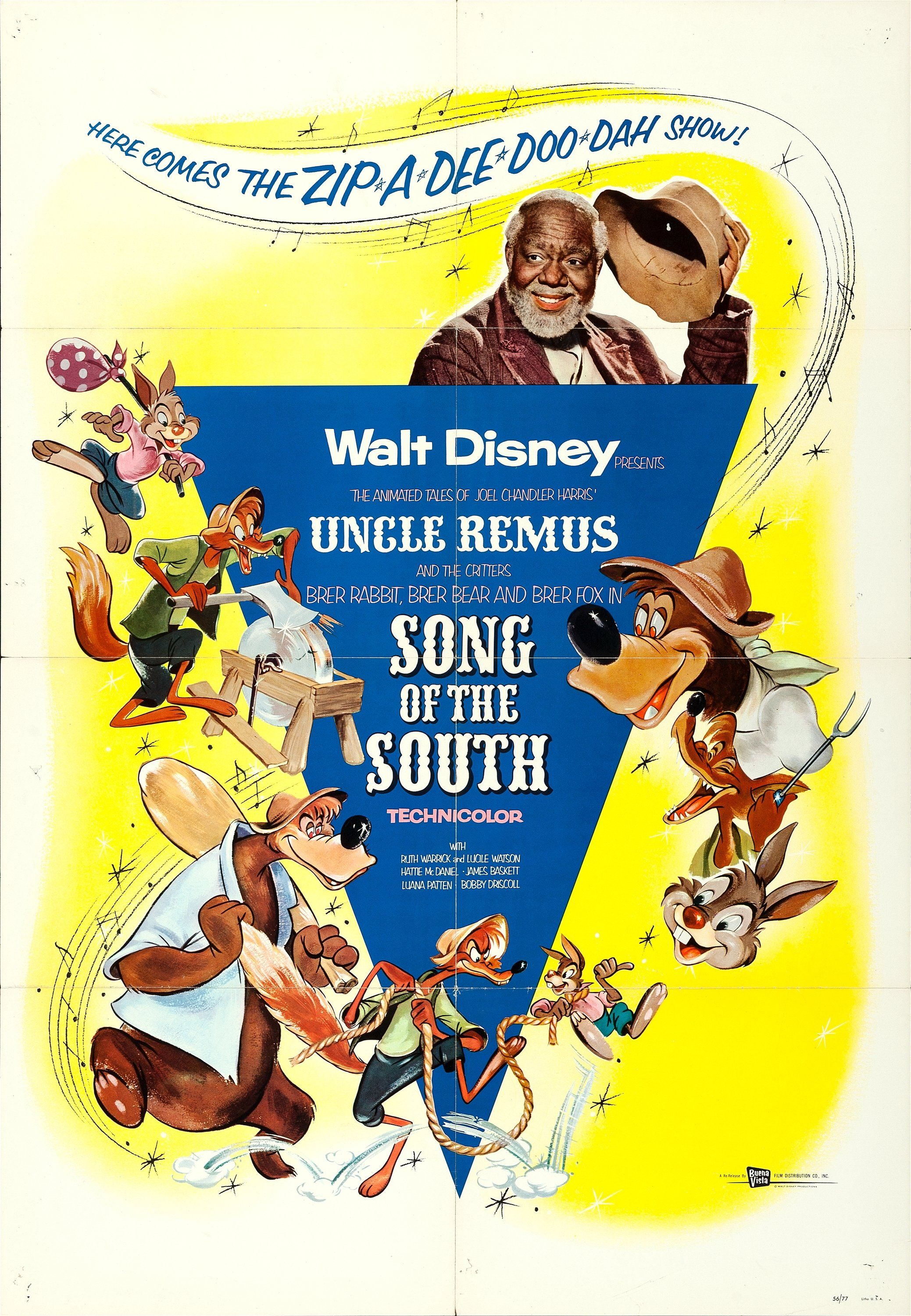 Song Of The South 1956 With Images Disney Movie Posters
