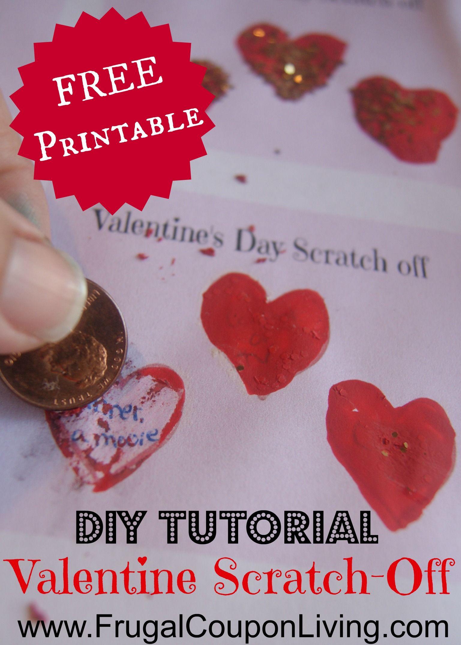 DIY Valentine Series Valentine s Day Scratch f Tickets