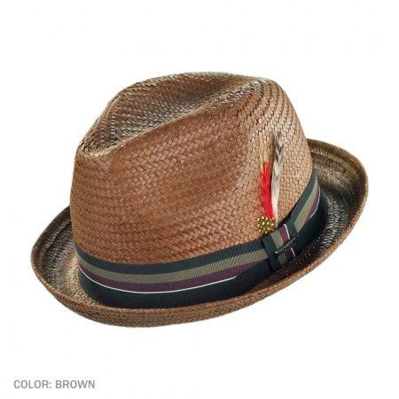 B2B Jaxon Tribeca Toyo Straw Trilby Fedora Hat in 2019  b1b37f4e0fc