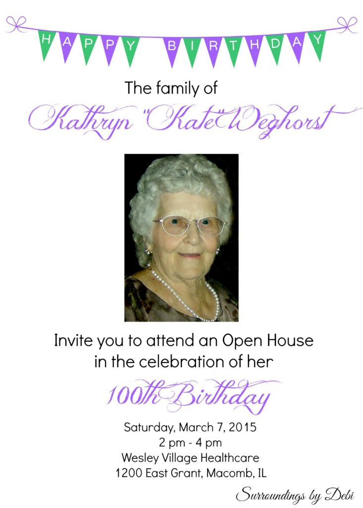 100th birthday invitation wording 100th birthday party invitations