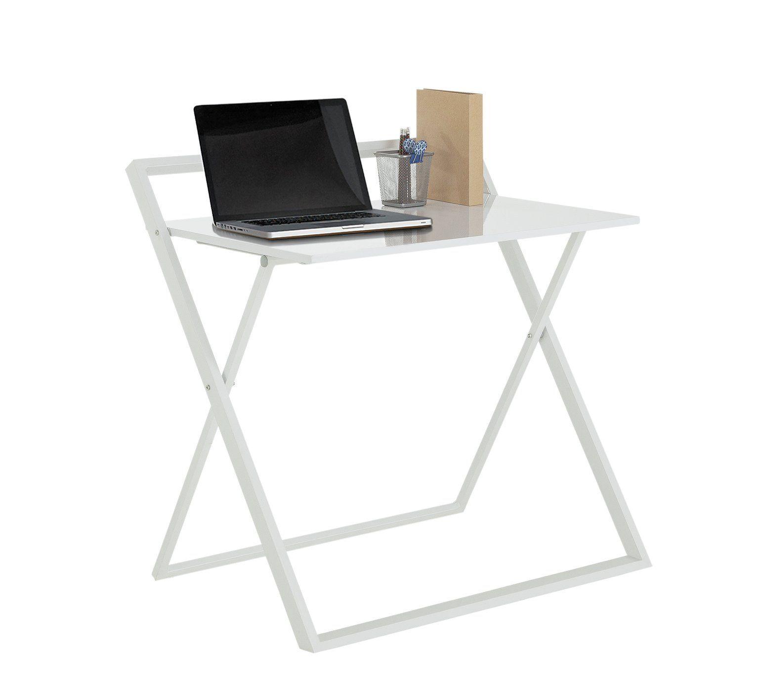 Buy HOME Compact Folding Easy Clean Desk - White at Argos.co.uk ...