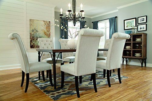 Signature Design By Ashley D53025 Tripton Collection Dining Room Table Medium Brown Check Dining Room Table Set Metal Dining Room Table Casual Dining Rooms