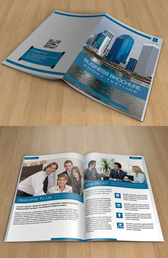 Bifold Corporate Brochure-14page-V48 by Template Shop on Creative - bi fold brochure template word