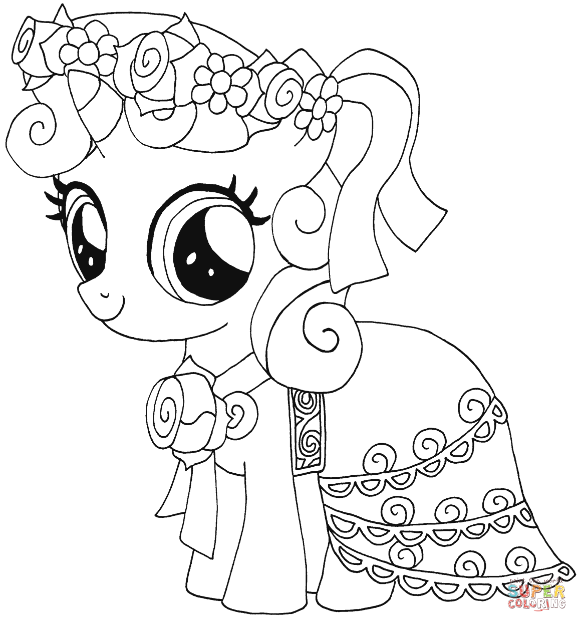 my little pony sweetie belle para colorir 01