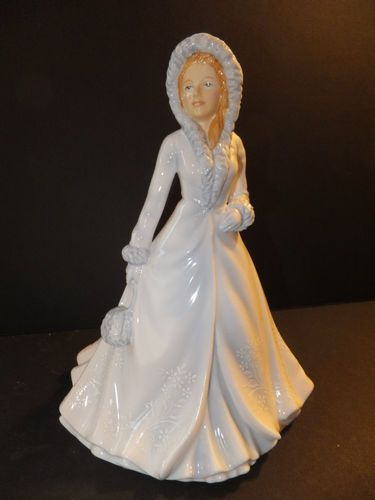 Royal Doulton Pretty Ladies White Christmas Figurine Brand New in Box | eBay