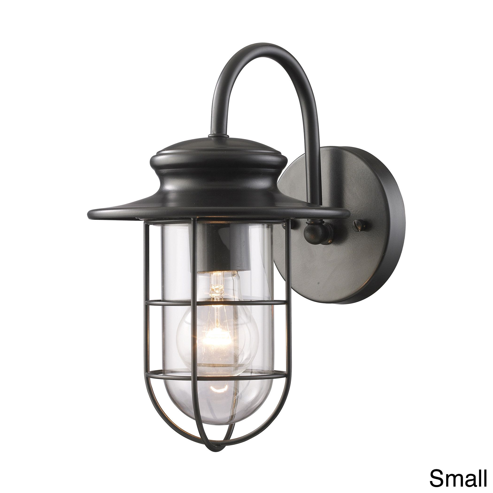 Buy black outdoor lighting wall sconces from overstock for buy black outdoor lighting wall sconces from overstock for everyday discount prices online aloadofball Image collections