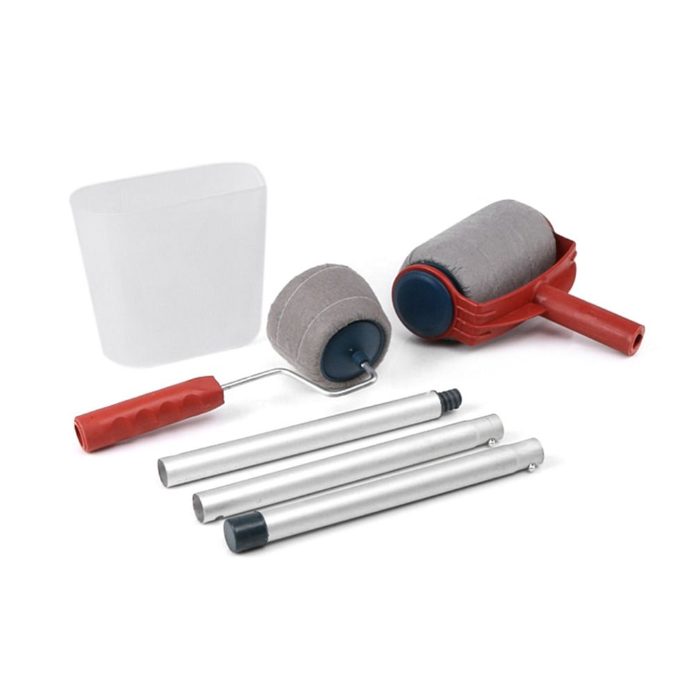 6pcs Set Practical Decoration Paint Roller Painting Brush Household Wall Tool Sets Painting Accessories Home Use Painting Accessories Paint Roller Tool Sets