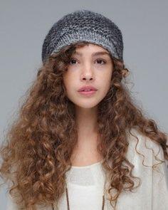 Curly Hair W Beanie Natural Hair Styles Curly Hair