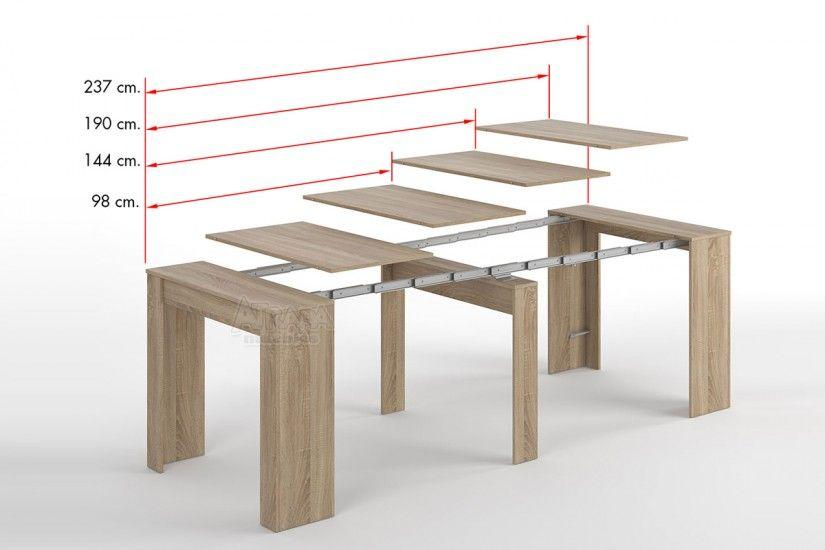 Mesa Consola comedor extensible. 4 en 1 De cónsola a mesa ...